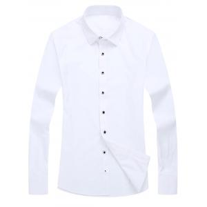 Chest Pocket Slim Fit Long Sleeve Shirt