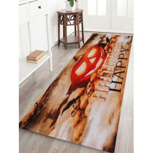 Pumpkin Happy Halloween Pattern Anti-skid Water Absorption Area Rug