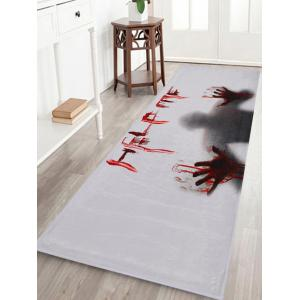 Halloween Help Me Pattern Anti-skid Water Absorption Area Rug