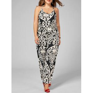 Plus Size High Waisted Printed Jumpsuit