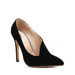 V Shape Stiletto Heel Pumps
