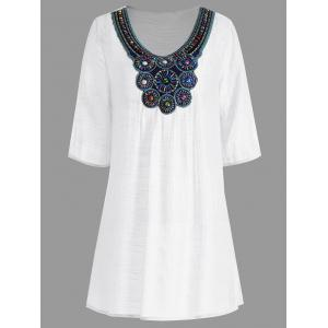 Beaded Plus Size Tunic Top