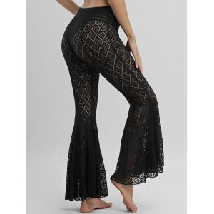 Flare Lace Cover Up Pants - BLACK S