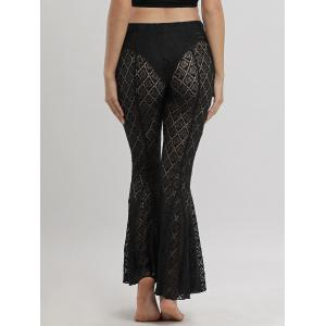 Flare Lace Cover Up Pants - BLACK M