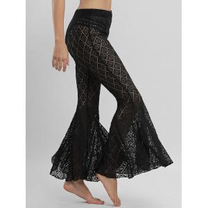 Flare Lace Cover Up Pants - BLACK XL