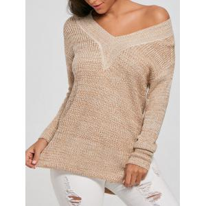 V Neck Knit Long Sweater