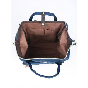 Canvas Top Handle Travel Backpack - DEEP BLUE
