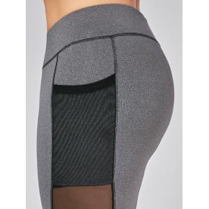 Plus Size Wirefree Yoga Bra and Mesh Panel Leggings -