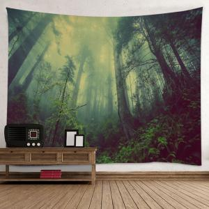 Mountain Forest Fog Print Tapestry Wall Hanging Art Decoration -