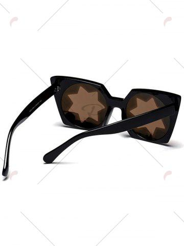 Outfits Mirrored Reflective Geometric Star Frame Sunglasses - GOLDEN  Mobile