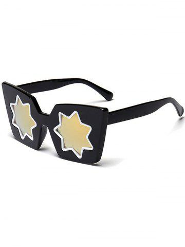Shops Mirrored Reflective Geometric Star Frame Sunglasses GOLDEN