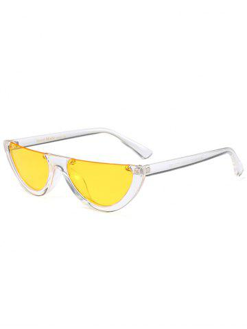 Buy Street Snap Semilunar Semi-Rimless Sunglasses - YELLOW  Mobile