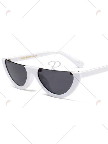 Buy Street Snap Semilunar Semi-Rimless Sunglasses - WHITE  Mobile