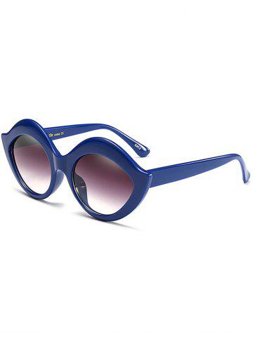 Best Street Snap Lip Shape Anti UV Sunglasses BLUE