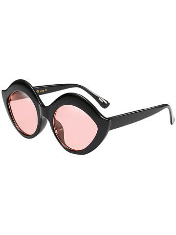 Sale Street Snap Lip Shape Anti UV Sunglasses - PINK  Mobile