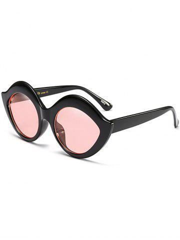 Shop Street Snap Lip Shape Anti UV Sunglasses - PINK  Mobile