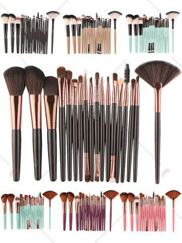 Shop 18Pcs Face Eye Makeup Brushes Kit - KHAKI+BLACK  Mobile