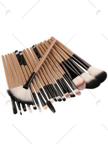 Trendy 18Pcs Face Eye Makeup Brushes Kit - KHAKI+BLACK  Mobile