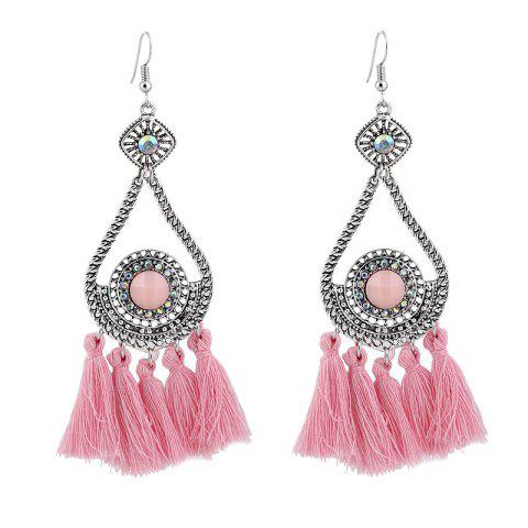 Fashion Vintage Rhinestone Tassel Teardrop Earrings