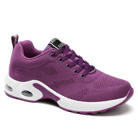Buy Breathable Air Cushion Mesh Athletic Shoes - 39 PURPLE Mobile
