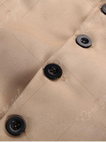 Hot Single Breasted Faux Pocket Waistcoat - 3XL WHITE Mobile