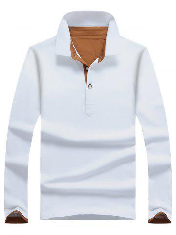 Cheap Casual Long Sleeve Half Button Polo Shirt