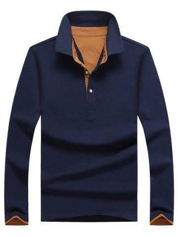 Outfit Casual Long Sleeve Half Button Polo Shirt