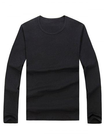Outfit Long Sleeve Basic T-shirt BLACK 2XL