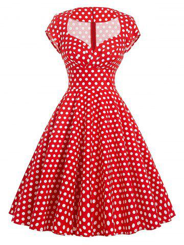 Outfits Vintage Polka Dot Swing Pin Up Dress - S RED Mobile