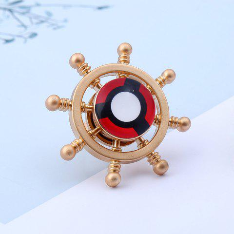 Outfits Adjustable Helm Shape Fidget Spinner Finger Ring - GOLDEN  Mobile