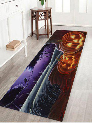 Hot Pumpkin Halloween Pattern Anti-skid Water Absorption Area Rug - W16 INCH * L47 INCH COLORMIX Mobile