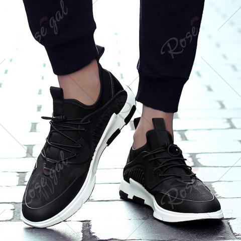 Shops Breathable Stretch Fabric Casual Shoes - 40 BLACK Mobile