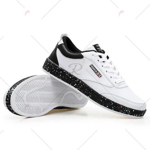 Sale Paint Splatter Sole Low Top Sneakers - 43 WHITE Mobile