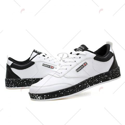 Shop Paint Splatter Sole Low Top Sneakers - 43 WHITE Mobile