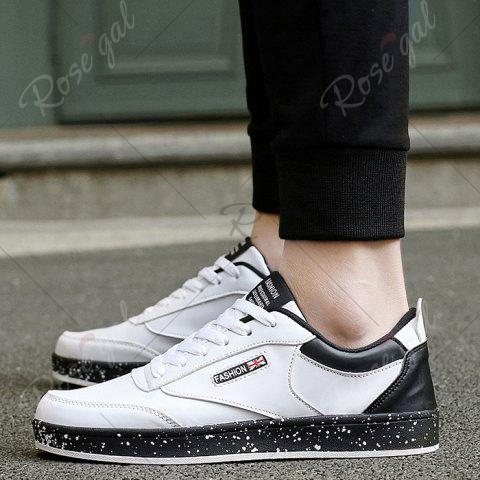 Latest Paint Splatter Sole Low Top Sneakers - 43 WHITE Mobile
