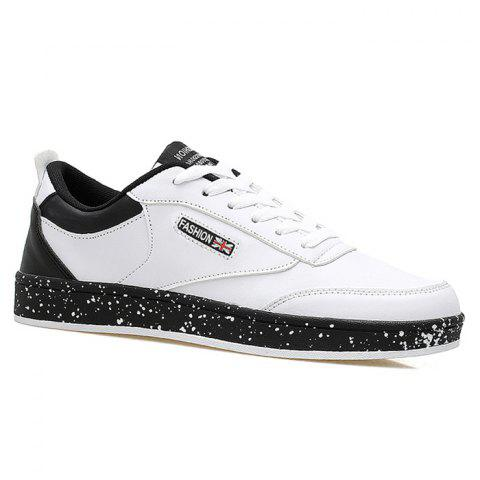 Online Paint Splatter Sole Low Top Sneakers - 43 WHITE Mobile