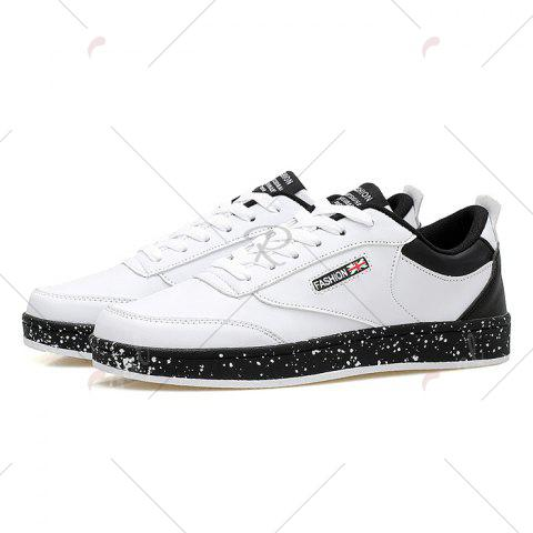 Store Paint Splatter Sole Low Top Sneakers - 43 WHITE Mobile