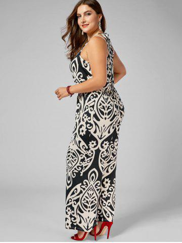 Online Plus Size High Waisted Printed Jumpsuit - 2XL MULTI Mobile