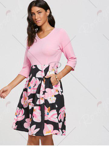 Best Floral Print Dress with Pockets - S PINK Mobile
