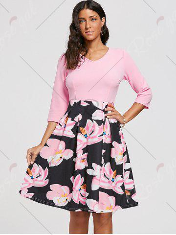 New Floral Print Dress with Pockets - S PINK Mobile