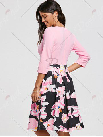Cheap Floral Print Dress with Pockets - S PINK Mobile