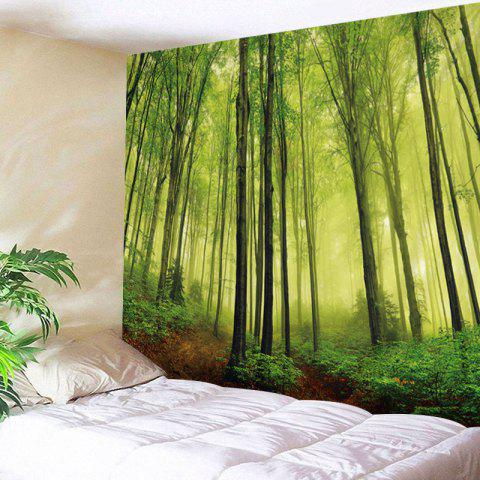 Fog Forest Print Tapestry Wall Hanging Decoration Vert