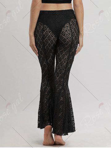 Store Flare Lace Cover Up Pants - S BLACK Mobile