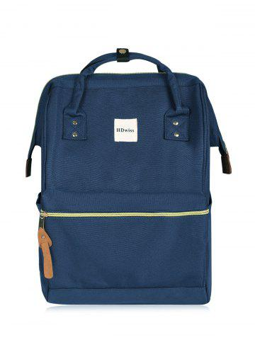 Best Canvas Top Handle Travel Backpack DEEP BLUE