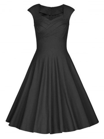 Trendy Sweetheart Neck Vintage Skater Party Dress