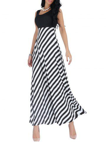 Black and white maxi dresses on sale