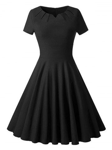 Chic Ruched Vintage Skater Party Dress