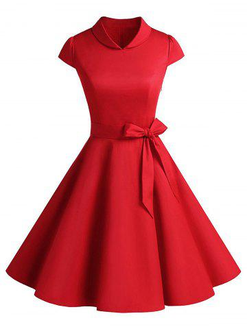 Fancy Vintage Belt Party Swing Pin Up Dress