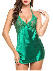 Cross Back Cami Satin Mini Babydoll -