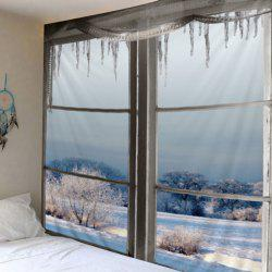 Window Snow Print Tapestry Wall Hanging Art Decoration